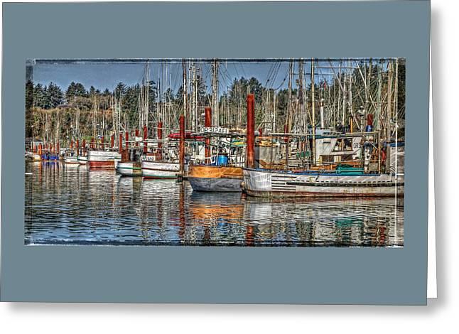 Fishing Boats Greeting Cards - Yaquina Bay Fishing Boats Greeting Card by Thom Zehrfeld