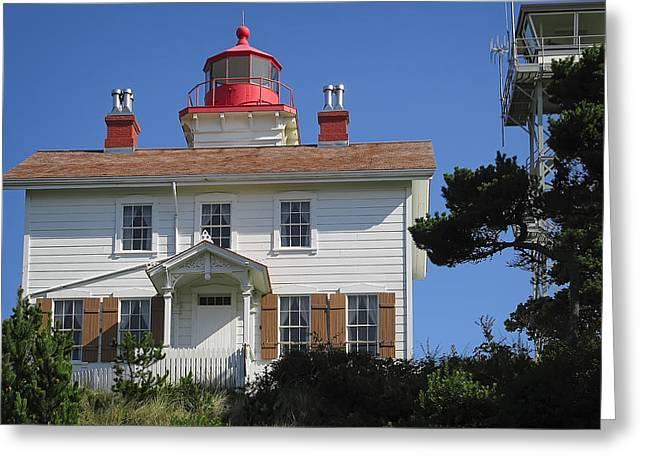 Yaquina Bay Lighthouse Greeting Cards - Yaquina Bay Lighthouse Greeting Card by Daniel Hagerman