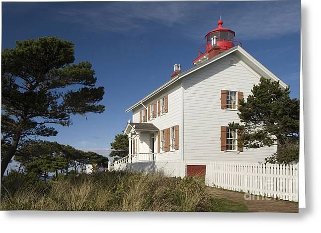 Yaquina Bay Lighthouse Greeting Cards - Yaquina Bay Lighthouse Greeting Card by John Shaw