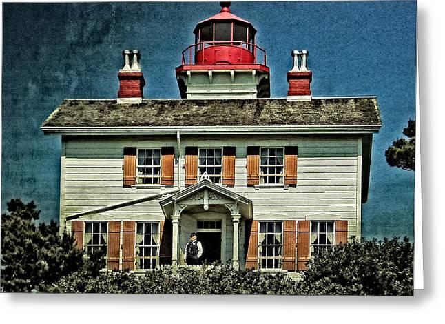 Yaquina Bay Lighthouse Greeting Cards - Yaquina Bay Lighthouse Greeting Card by Thom Zehrfeld
