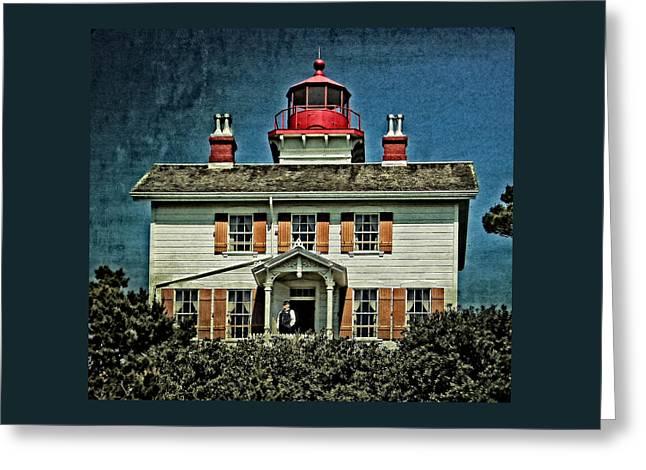 Coastal Landscape Greeting Cards - Yaquina Bay Lighthouse Greeting Card by Thom Zehrfeld