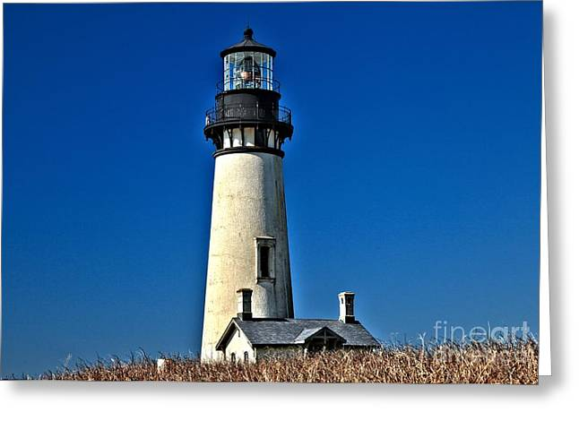 Yaquina Head Lighthouse Greeting Cards - Yaquina Head Greeting Card by Adam Jewell