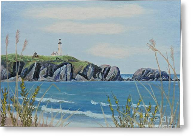 Oregon Pastels Greeting Cards - Yaquina Head in June Greeting Card by Naomi Ball