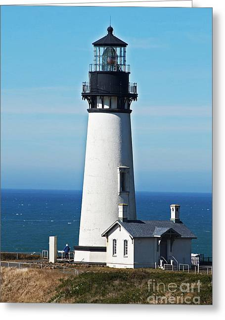 Yaquina Head Light Eight Greeting Card by Donald Sewell