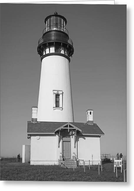Haunted Shack Greeting Cards - Yaquina Head Lighthouse 1 - Oregon Greeting Card by Daniel Hagerman