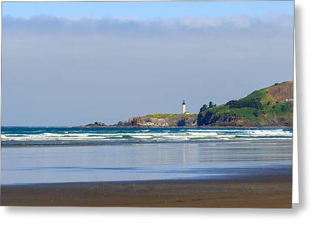Agate Beach Oregon Greeting Cards - Yaquina Head Lighthouse 2 Greeting Card by C Steele