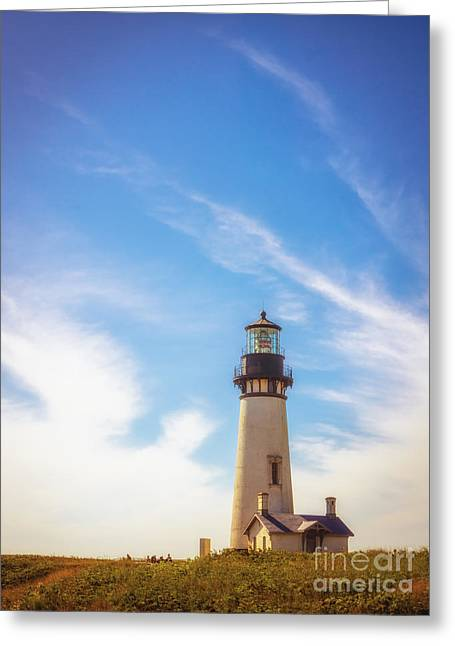 Cole Greeting Cards - Yaquina Head Lighthouse Greeting Card by Carrie Cole