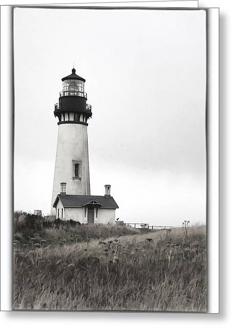 Yaquina Head Lighthouse Greeting Card by Charrie Shockey