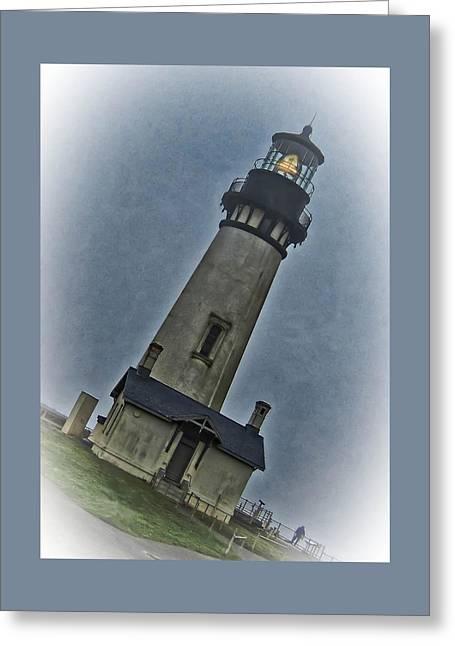 Coastal Landscape Greeting Cards - Yaquina Head Lighthouse  Greeting Card by Thom Zehrfeld