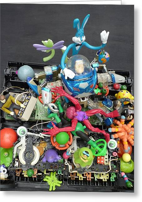 Quirky Sculptures Greeting Cards - Yard Sale Junk Pile Greeting Card by Douglas Fromm