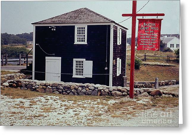 Griss Greeting Cards - Yarmouth MA Grist Mill 1710 Greeting Card by Merton Allen