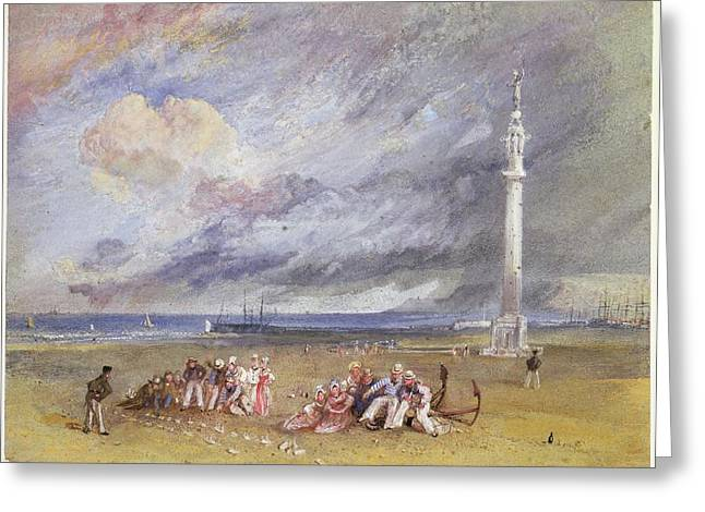 Sand Storm Drawings Greeting Cards - Yarmouth Sands Greeting Card by Joseph Mallord William Turner