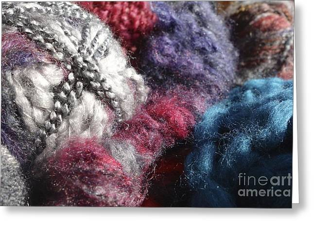 Braided Rugs Greeting Cards - Yarn #2 Greeting Card by Jacqueline Athmann