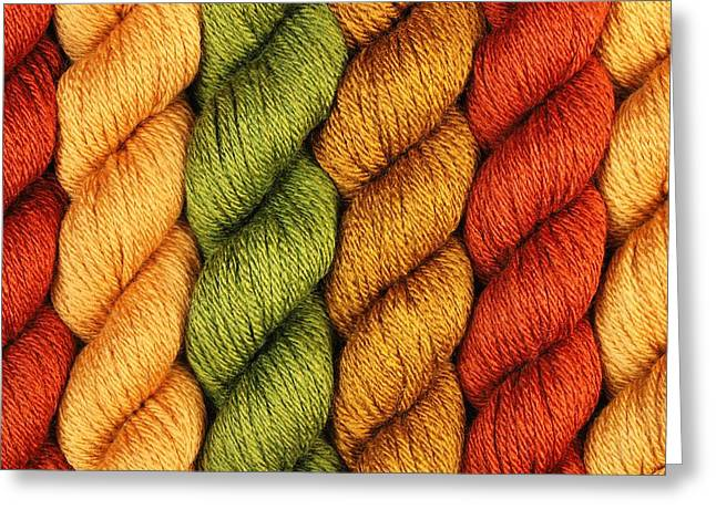 Earth Tone Photographs Greeting Cards - Yarn With a Twist Greeting Card by Jim Hughes