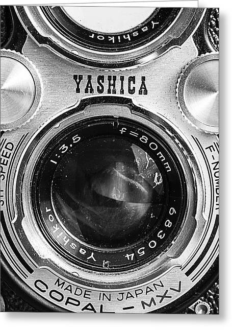 Yashica 635 - Front Detail Greeting Card by Jon Woodhams