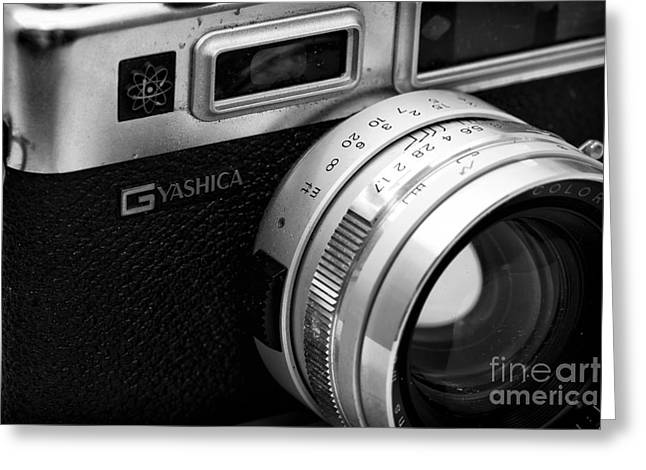 Rangefinder Greeting Cards - Yashica G Greeting Card by John Rizzuto
