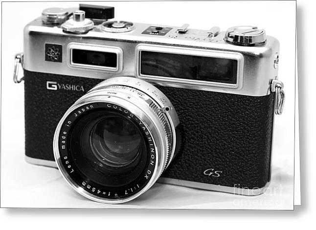 Rangefinder Greeting Cards - Yashica GS Rangefinder Greeting Card by John Rizzuto