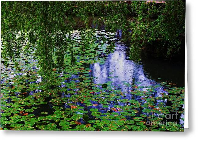 Get Well Card Framed Prints Greeting Cards - Yat Sen Park In The Rain Greeting Card by Marcus Dagan
