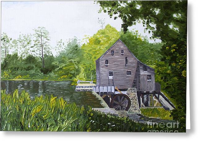 Kevin Croitz Greeting Cards - Yates Mill Summer Greeting Card by Kevin Croitz