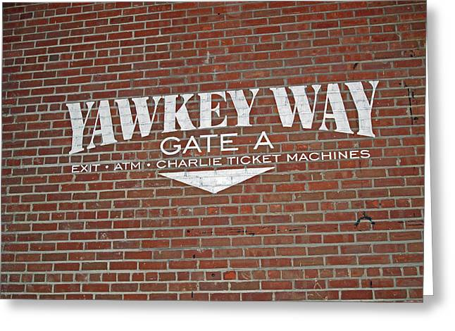 Fenway Park Greeting Cards - Yawkey Way Greeting Card by Barbara McDevitt