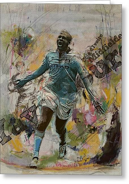 Qatar Greeting Cards - Yaya Toure Greeting Card by Corporate Art Task Force