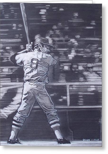 Baseball Fields Drawings Greeting Cards - Yaz - Carl Yastrzemski Greeting Card by Sean Connolly