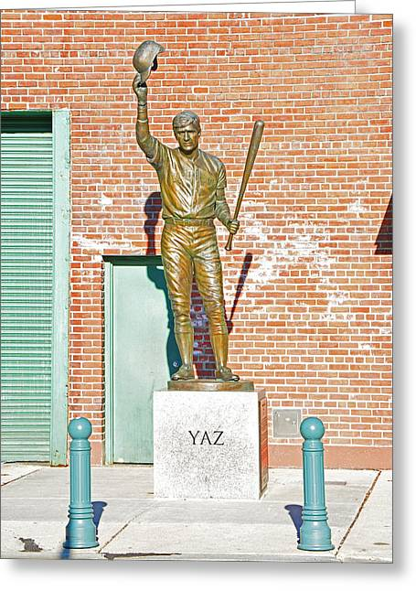Boston Red Sox Greeting Cards - Yaz Greeting Card by Mike Martin