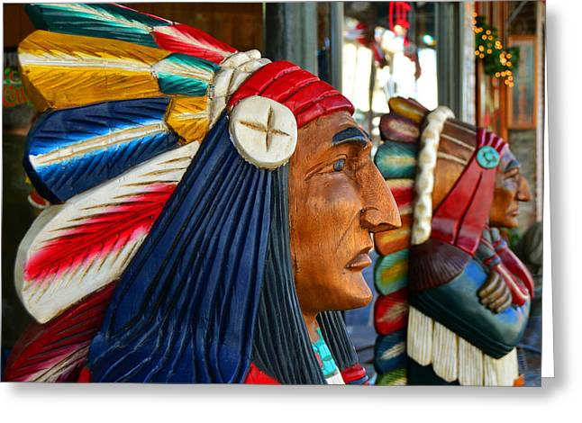 Colorful Indian Chief Greeting Cards - Ybor tribe Greeting Card by David Lee Thompson