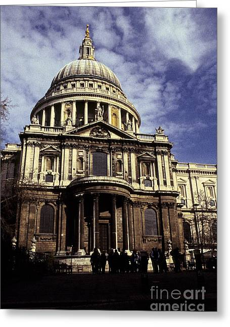 Lord Nelson Paintings Greeting Cards - Ye Olde Church London Greeting Card by Ryan Fox