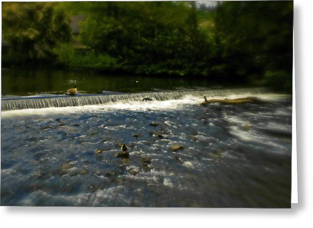 Garden Scene Mixed Media Greeting Cards - Ye Olde River Wye Greeting Card by Michael Braham