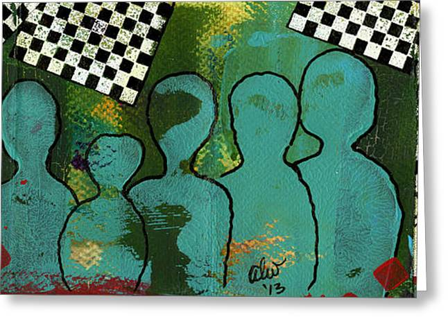 Religious Mixed Media Greeting Cards - Yeah...But Were The JAZZ Singers Greeting Card by Angela L Walker