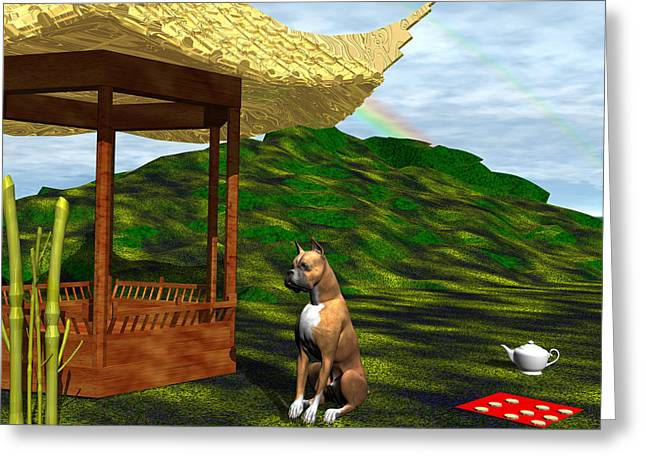 Year Of The Dog Greeting Card by Michele Wilson