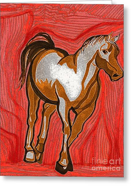 Fauv Greeting Cards - Year of the Horse by jrr Greeting Card by First Star Art