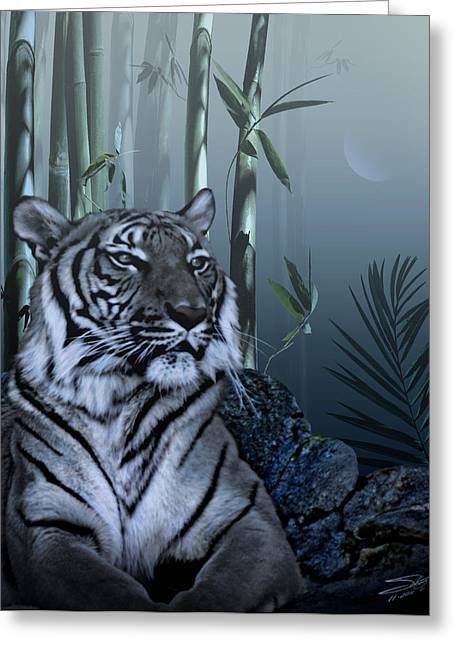 Chinese Tiger Greeting Cards - Year of the Tiger Greeting Card by Schwartz