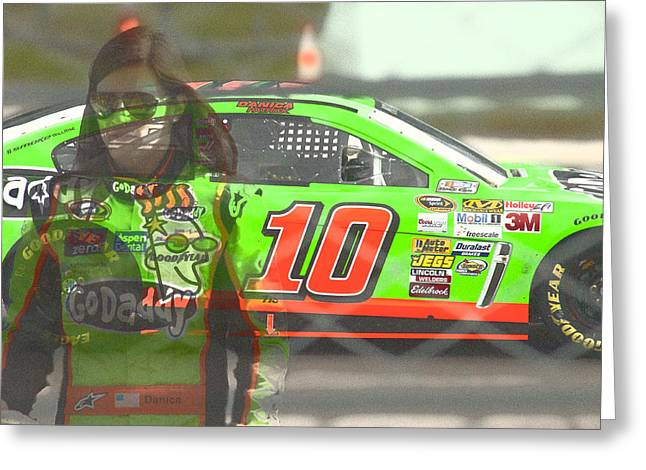 Danica Patrick Greeting Cards - GoGirl Greeting Card by Gary Nelson