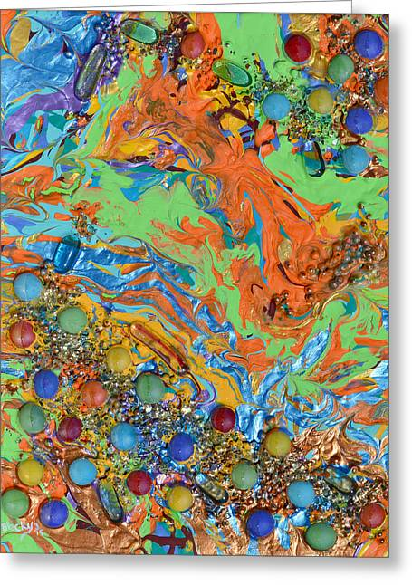 Art In Acrylic Greeting Cards - Yearning To Be Together Greeting Card by Donna Blackhall