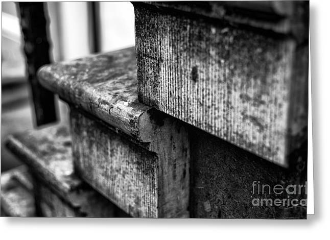 Stone Steps Greeting Cards - Years of Use mono Greeting Card by John Rizzuto