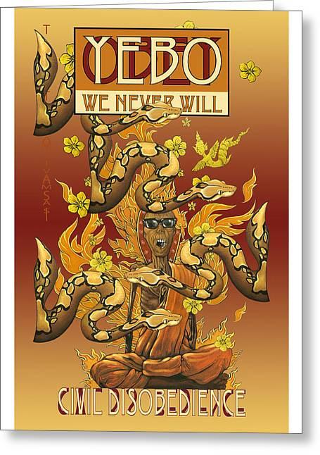 Free Speech Digital Greeting Cards - YEBO Civil Disobedience 1 Greeting Card by Philip Slagter