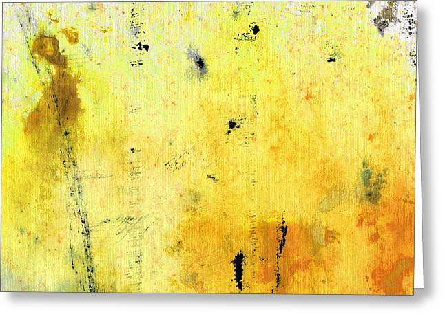 Abstract Expressionist Paintings Greeting Cards - Yellow Abstract Art - Lemon Haze - By Sharon Cummings Greeting Card by Sharon Cummings
