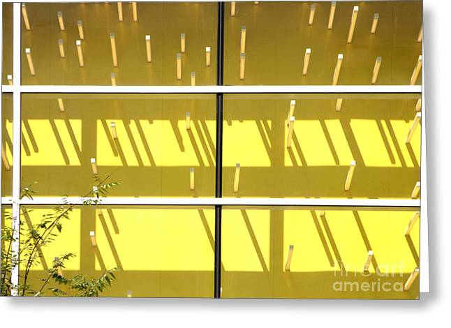 Visual Imagery Greeting Cards - Yellow Abstract Greeting Card by Tony Cordoza