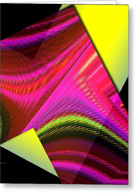 Transparency Geometric Greeting Cards - Yellow and Pink Designs Greeting Card by Mario  Perez