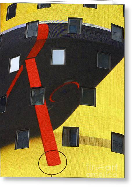 Abstracto Greeting Cards - Yellow Architectural Abstract Greeting Card by ArtyZen Studios - ArtyZen Home