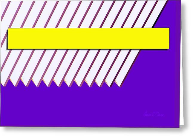 Purlple Greeting Cards - Yellow Bar White Louvers Greeting Card by Robert J Sadler