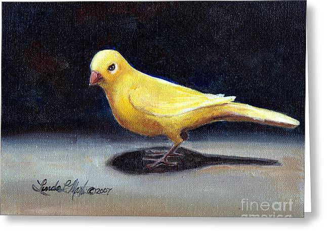 Llmartin Greeting Cards - Yellow Bird Greeting Card by Linda L Martin