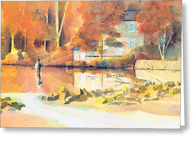 Recently Sold -  - Fishing Creek Greeting Cards - Yellow Breeches Greeting Card by Robert Yonke