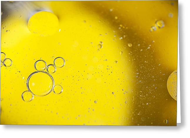 Bubbly Greeting Cards - Yellow Bubbles Greeting Card by Samuel Whitton