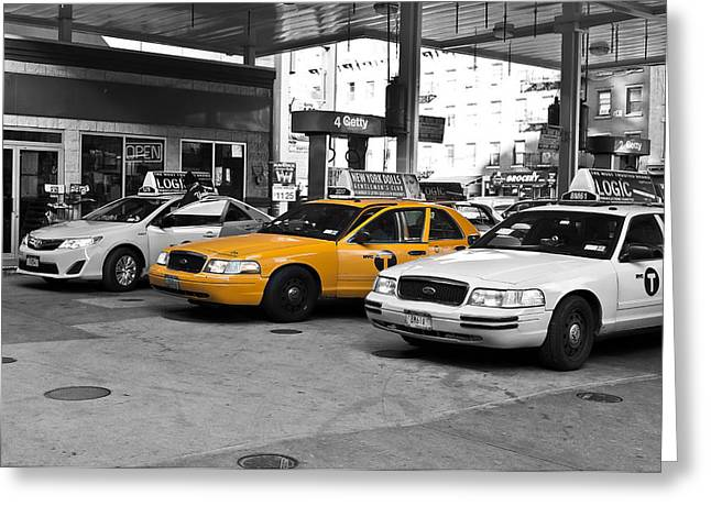 Chelsea Greeting Cards - Yellow Cab _ Taxi Greeting Card by Louis Dallara