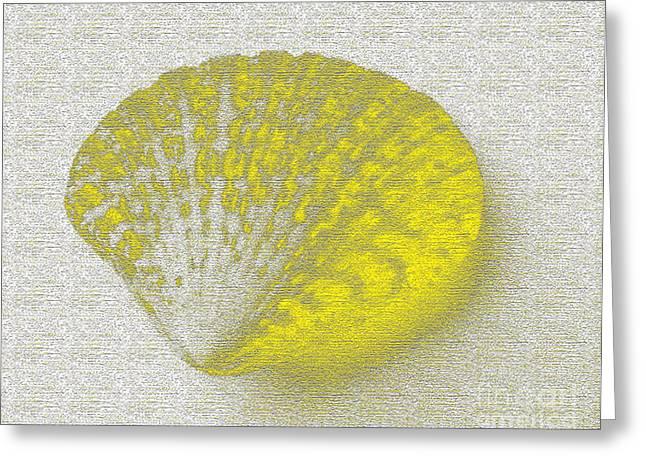 Seaside Digital Greeting Cards - Yellow Greeting Card by Carol Lynch