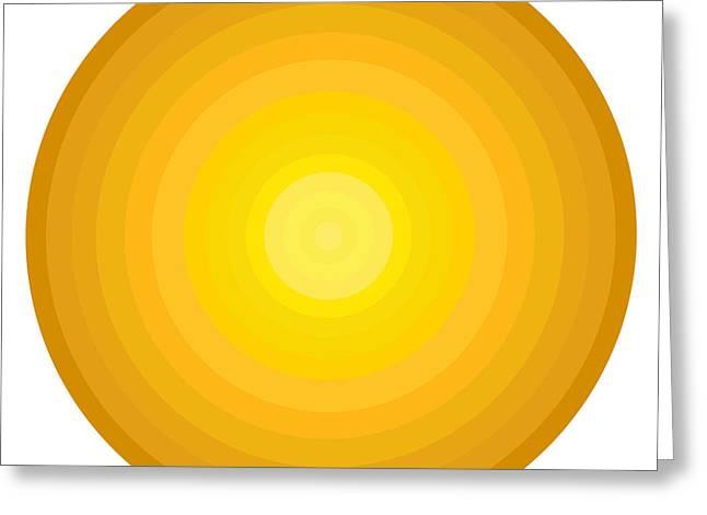 Yellow Circles Greeting Card by Frank Tschakert