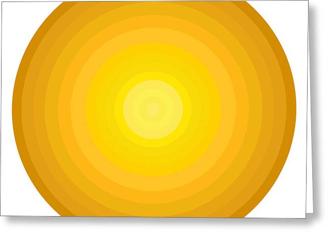 Oversized Art Greeting Cards - Yellow Circles Greeting Card by Frank Tschakert